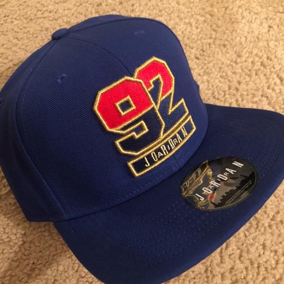 844fb079480 Jordan Accessories | Nwot Blue 92 Snapback Hat | Poshmark